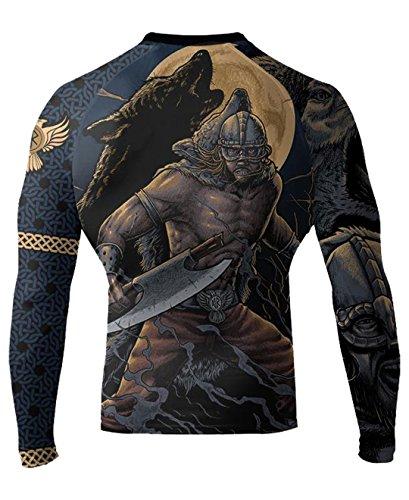 Raven Fightwear Men's Ulfhedinn MMA BJJ Rash Guard Black Large