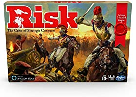 Hasbro Gaming Risk Game with Dragon; for Use with Amazon Alexa; Strategy Board Game Ages 10 and Up; with Special Dragon...