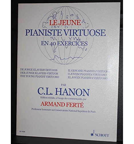 Méthode de piano–Hanon el joven pianista Virtuose–40ejercicios