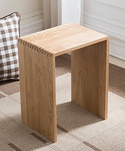 WZNING Rubber Quadrat Hocker, Farbe Nussbaum und Holzfarbe, 35 * 26 * 45cm (Color : HPHPPCS, Size : HPHPPCS)