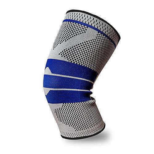 Rodilleras Xiao, baloncesto deportivo, montañismo, equipo de protección para hombres y mujeres, se puede estirar la rodillera, hay tres colores para que elijas rodilleras deportivas, color gris, tamaño large