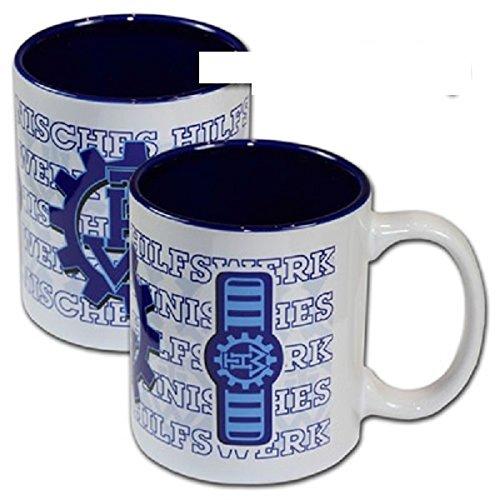 Schwemmlein THW Kaffeetasse Tasse mit Dienststellungskennzeichen - Zugtruppführer - 95x110mm