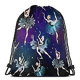 Tanzen Ballerinas Kordelzug Taschen Leichte Sport Sport Bapa für Travel Beach Yoga