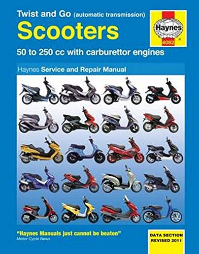 Twist And Go (Automatic Transmission) Scooters Service And Repair Manual: 50 to 250 cc with carburettor engines: 50 to 250 CC with Carburetor Engines