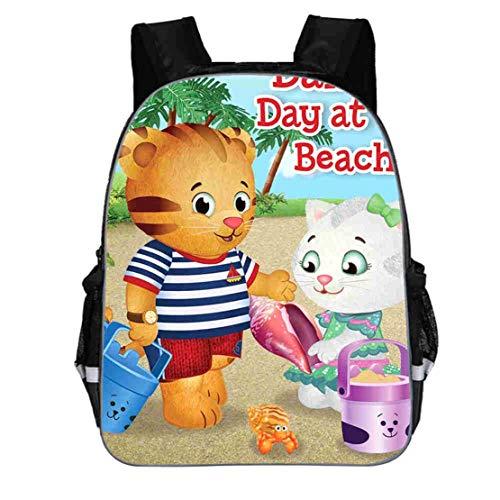 Lanberin Kids Back to School Daniel The Tiger Backpack-Lightweight School Book Bag Canvas Travel Backpack for Boys Girls