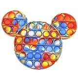 Webcat Silicone Pincez Sensorielle Jouet, Mickey Mouse Pousser Pop Bubble Sensory Fidget Toy, Cadeaux De Jouets Sensoriels Sûrs Push Bubble Fidget Toys (Style - B)