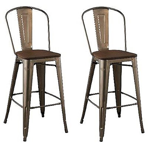 "Set of 2 29"" Carlisle Backless Barstool Silver - Threshold™"
