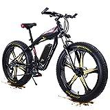 1000W Adultos montaña Bicicleta Electrica 26 pulgadas 4.0 gordo Neumático Plegable Bicicleta eléctrica 48V / 21Ah Li-ion Batería Electrónico Bicicleta 27 Velocidad Engranajes por De los hombres De las