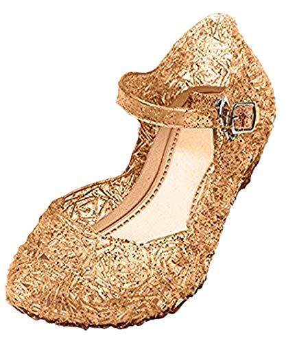 GenialES Meisjes Ballerina's Schoenen Gelei Sandalen Prinses Schoenen Voor Verjaardag Kerst Carnaval 22 EU - 33 EU