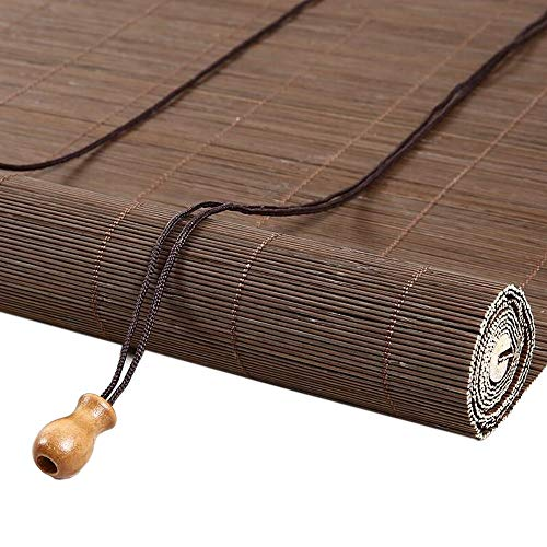 JIAYUAN rolluiken voor slaapkamer, Windows Bamboo Blind Sun Shade, voor balkon, teekkamer, 60 cm / 70 cm / 90 cm / 100 cm breed