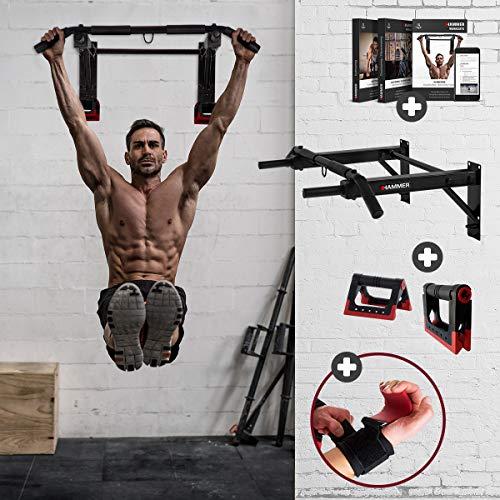 HAMMER Klimmzugstange Pull-Up 2.0, schwarz, 150 kg, 65 x 94 x 27 cm