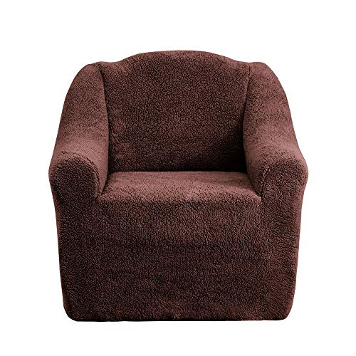 Mixibaby Sofabezug Sofahusse Sesselbezug Sitzbezug Sesselüberwurf Husse 1er Sofa Wellsoft, Farbe:braun