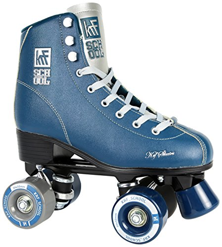 KRF Kinder School Alu Rollschuhe, Roller Figure Quad, Blue, 39