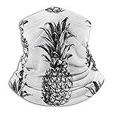 lymknumb Patrón de fruta de piña, calentador de cuello de vellón, tubo de polaina de cuello reversible, diadema de calentador de orejas de versatilidad para hombres y mujeres