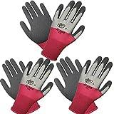 3 pares de guantes de jardinería multicolor con revestimiento de látex,...