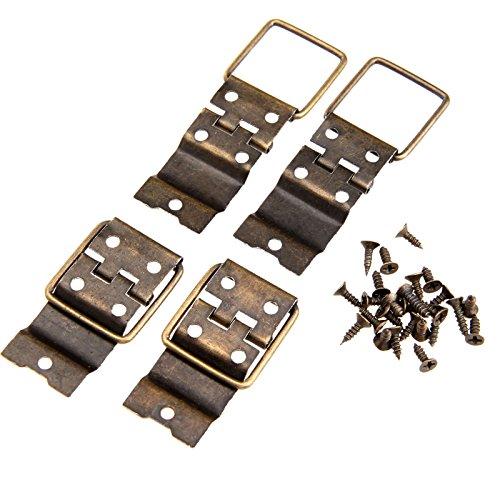 HKRSTSXJ 20 unids bisagras de Hierro Antiguo Bronce 38 * 21 mm Anillo Incluso Puerta de bisagra gabinete Retro Muebles Accesorios de Hardware