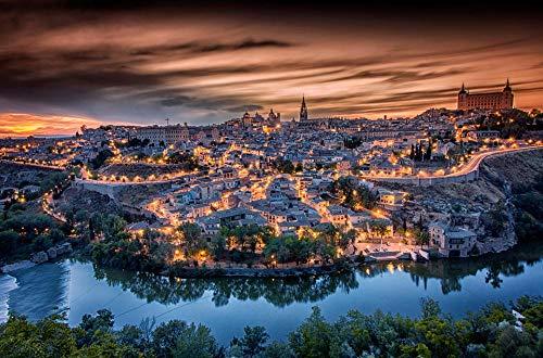 MKmd-s Rompecabezas de 1000 Piezas Toledo City The Wooden Puzzle