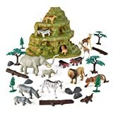 Animal Zone 30Pc Safari Set with Mountain