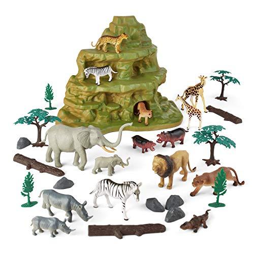 Animal Zone 30Pc Safari Set with Mountain