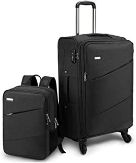 Oxford Cloth Trolley Case And Backpack Set Password Box Boarding Suitcase Large Capacity Luggage 18/20 Inch Set of black 28inch
