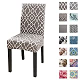 Dining Chair Cover Seat Protector Super Fit Slipcover Stretch Removable Washable Soft Spandex Fabric for Home Hotel Dining Room Ceremony Banquet Wedding Party Restaurant (Color 46, 4 Per Set)