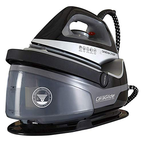 Tower Steam Generator Iron with Non-Stick Ceramic Soleplate,...