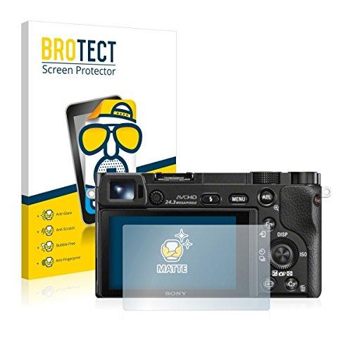 2X BROTECT Matt Displayschutz Schutzfolie für Sony Alpha 6000 (matt - entspiegelt, Kratzfest, schmutzabweisend)