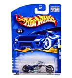 Mattel Hot Wheels 2001Maßstab 1: 64blau Blast Lane Motorrad Druckguss Auto # 169