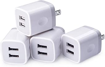 Charging Block,Wall Adapter,Sicodo 4-Pack 2.1A USB Wall Travel Plug Charger Cube Compatible with iPhoneX, 8,7 Plus,6 Plus,Tablet,Samsung Galaxy S9,S8 Plus,S6 S7 Edge,HTC,Nokia,BlackBerry,LG,Sony