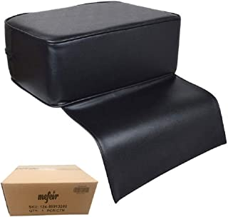 Mefeir Child Kids Booster Seat for Styling Chair, Barber Shop Salon Spa Equipment, Black Cushion Leather Kids Children Use
