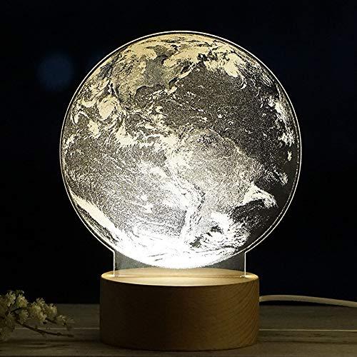LIULINUIJ Lampe De Bureau Plaque Lumière Chambre Voie Lactée Panneau Acrylique 3D Terre Lampe Veilleuse Nuit Univers De Bureau Univers Lumière Cadeau