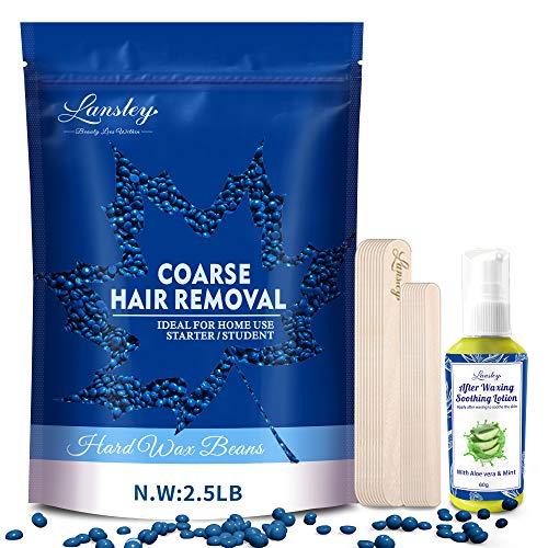 Hard Wax Beans Hair Removal Body Wax Kit 40oz (Coarse Body Hair Specific) Sensitive Skin Waxing...