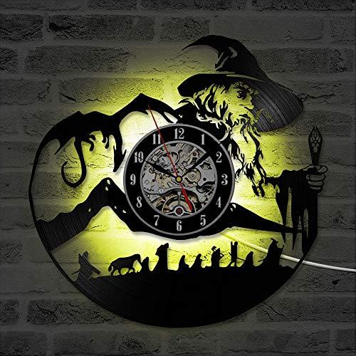 TPFEI El Señor de los Anillos Reloj de Disco de Vinilo Crea