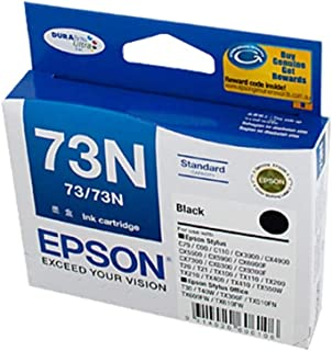 Epson C13T105192 73/73N Standard Yield Black Ink Cartridge for CX3900, 4900, 5500, 5900, 6900, C79 Printers