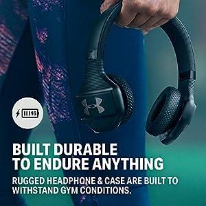 JBL JBL - Under Armour Train - Black - Under Armour Train, Wireless On-Ear Sport Headphones - /Red, Under Armour Train -, Black, Medium
