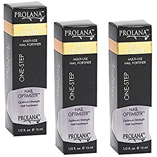 Prolana (Olan) Nail Optimizer Ultimate One-step Nail Strengthener .5 Oz (3 pieces) by Olan Laboratories