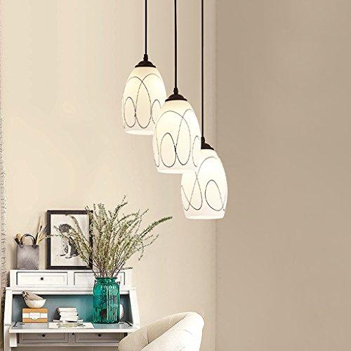 * Hanglamp voor binnen, eenvoudig, drie glazen kopjes, kroonluchter LED woonkamer eetkamer studie slaapkamer verlichting kroonluchter voor het huishouden