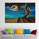 YHZSML Salvador Dali Arte pictórico El remordimiento del surrealismo Pintura Abstracta Arte Carteles Antiguos Fotos Decoración del hogar 30x45CM