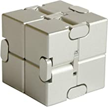 OUYAWEI Rubik Toy Unlimited Cube Aluminum Alloy Reduced Pressure Pocket Toy Eucalyptus Silver Flower