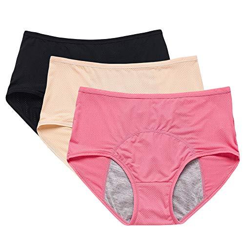 Bmeigo Dames Lekvrij ondergoed Katoenen slip Menstruatie slipje Mesh Ademend Postpartum onderbroek