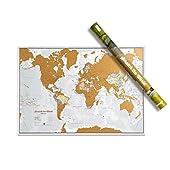 DETALLE - Los detalles cartográficos de la mayor calidad para este mapa de Mundo con el concepto de rascarlo AVENTURERO - Perfecto para el entusiasta de los viajes RASCA LOS DESTINOS - para revelar el precioso mapa actualizado de Mundo que se encuent...