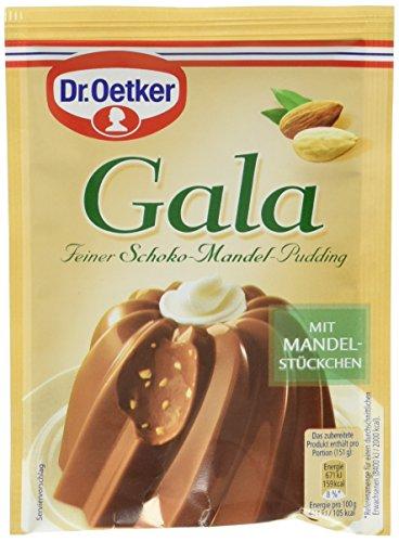 Dr. Oetker Gala Feiner Schoko-Mandel-Pudding, 10er Pack (10 x 110 g)