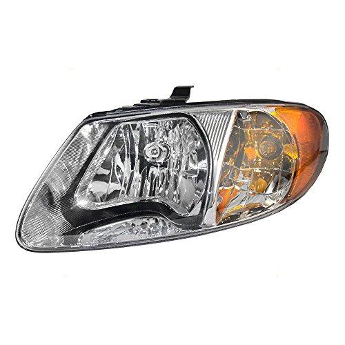 Halogen Headlight Headlamp Driver Replacement for 01-07 Dodge Caravan Chrysler Town & Country Voyager 113' Wheel Base Van 4857701AC