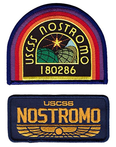 Titan One Europe - Set 2 Nostromo USCSS Spaceship Crew Uniform Alien Cosplay Patches Aufnäher Aufbügler