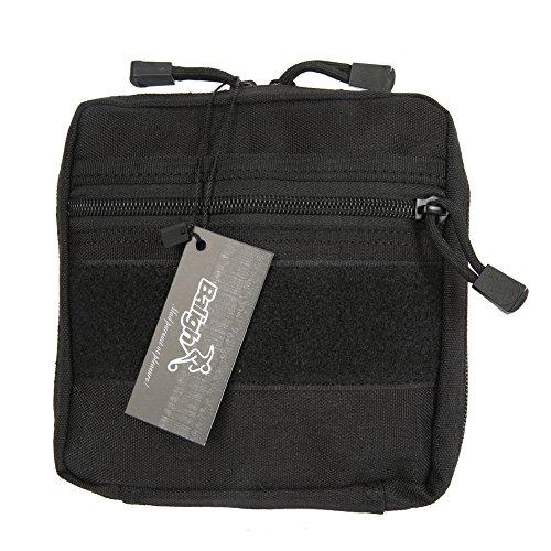 wingbind lienzo bolsa pequeña herramienta Kit de primeros auxilios médicos bolsa de gadget para deportes al aire libre, Unisex, negro