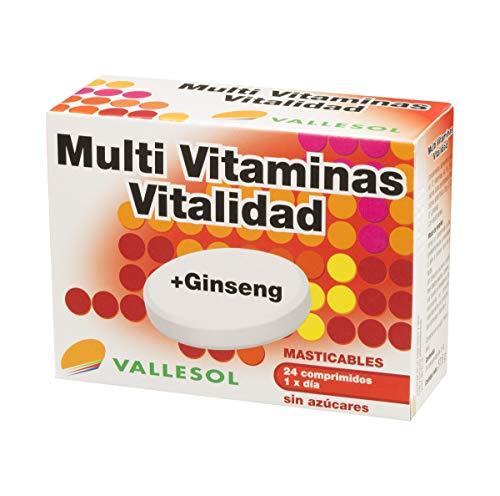 VALLESOL multivitaminas vitalidad + ginseng caja 24 uds