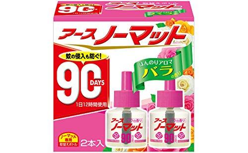 アースノーマット 90日用 微香性バラの香り [4.5-12畳用 取替ボトル2本入]