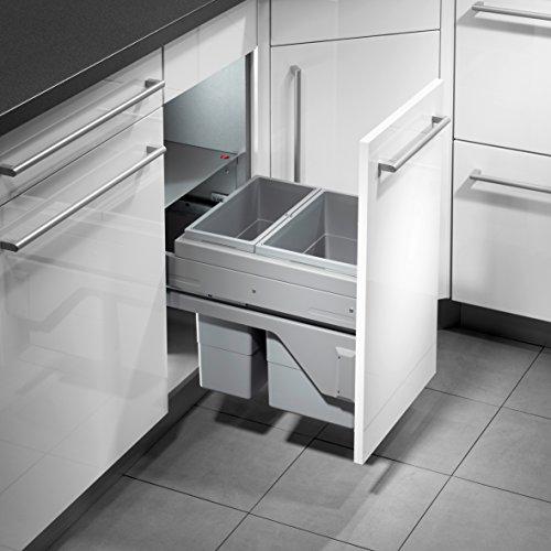Hailo Cargo Soft Küchen-Abfalleimer, Grau, One Size