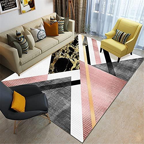 IRCATH Combinación Patrón de Mosaico geométrico Moderno Minimalista Sala de Estar Sofá Mesa de café Salón Alfombra decorativa-40x60cm Las alfombras Son aptas para Suelos radiantes