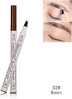 Niome 4 Head 3 Color Waterproof Fork Tip Eyebrow Tattoo Pen Microblading Eyebrow Makeup Ink Sketch 2# Four Head Brown